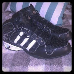 Size 15 Adidas basketball shoes signed
